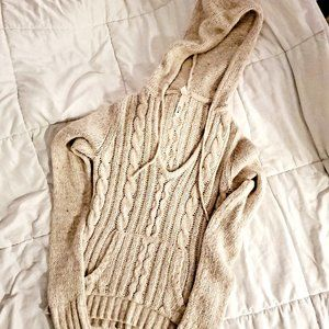Lilu Pullover Cable Knit Hoodie